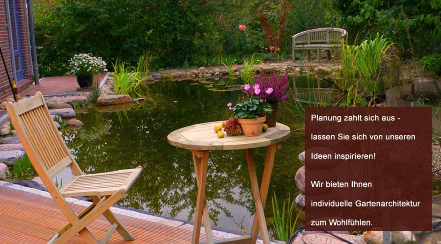 Gartenarchitektur zum Wohlfühlen